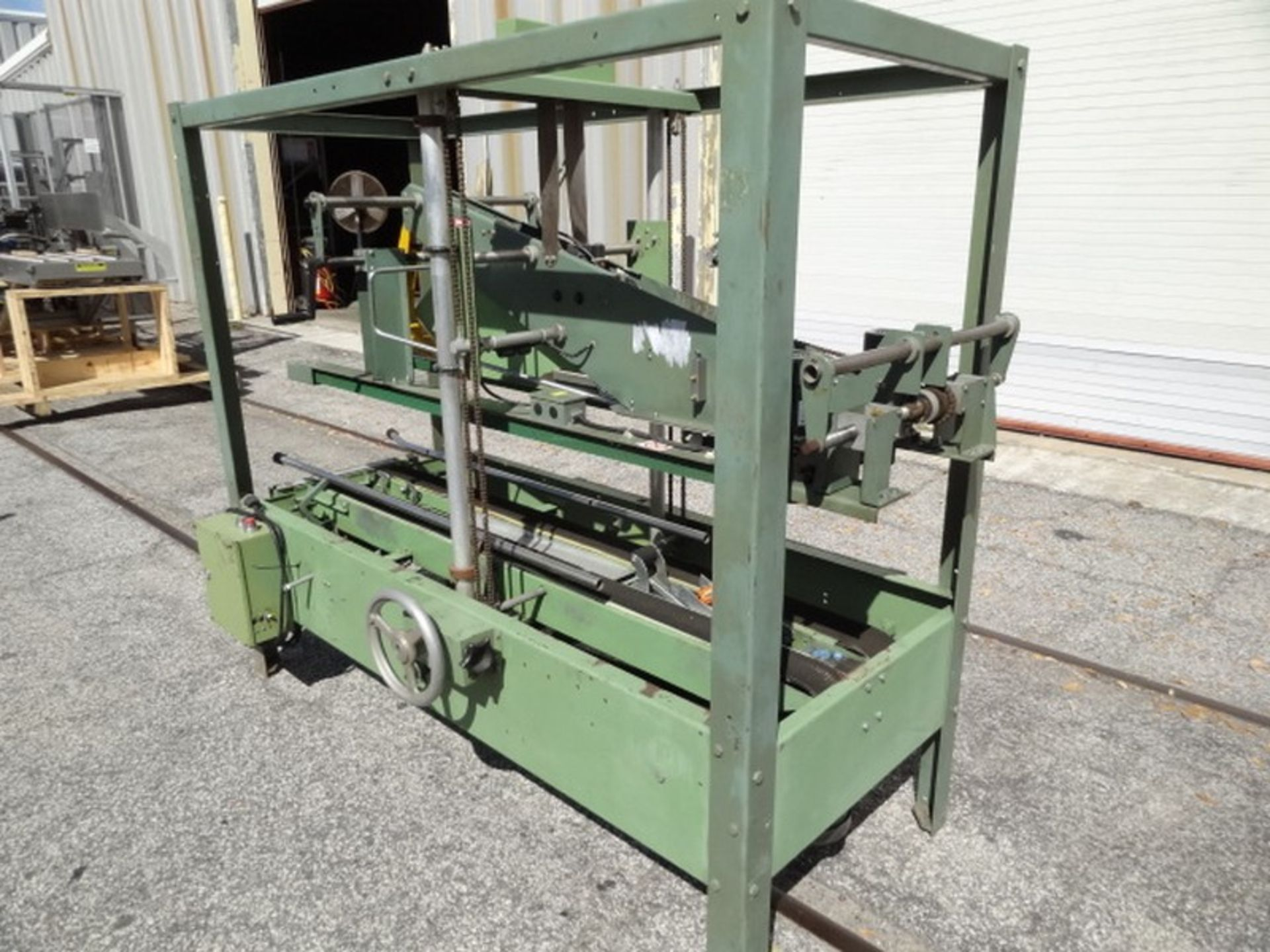 "Lot 468 - Loveshaw-Little David LD16-00 Case Sealer with 2"" tape heads and ""top side-belt squuezers""; 110v-"