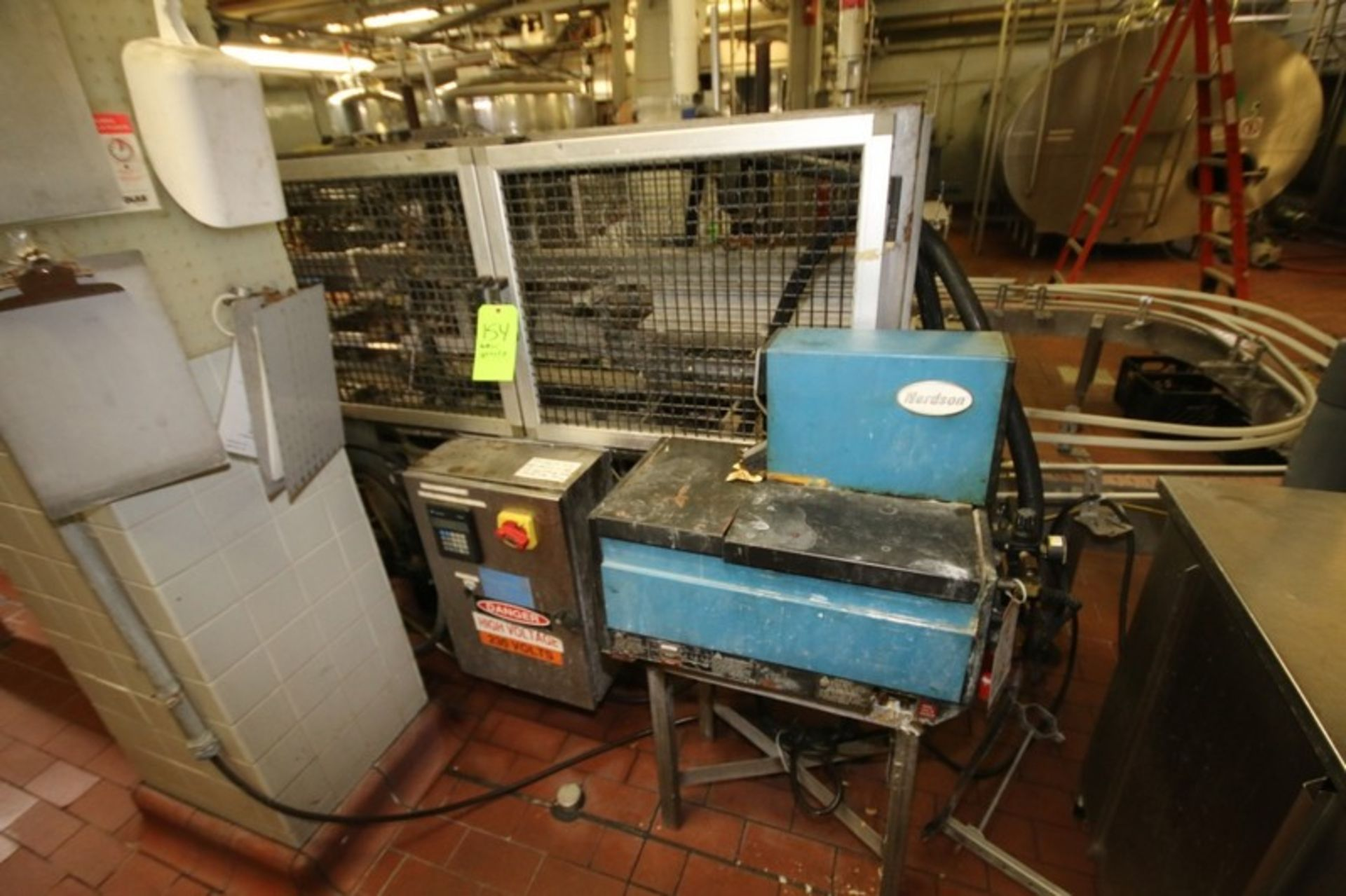 Lot 93 - SWF Corrugated Case Sealer; Hot Melt Design with Nordsen Glue System: includes Allen Bradley Micro