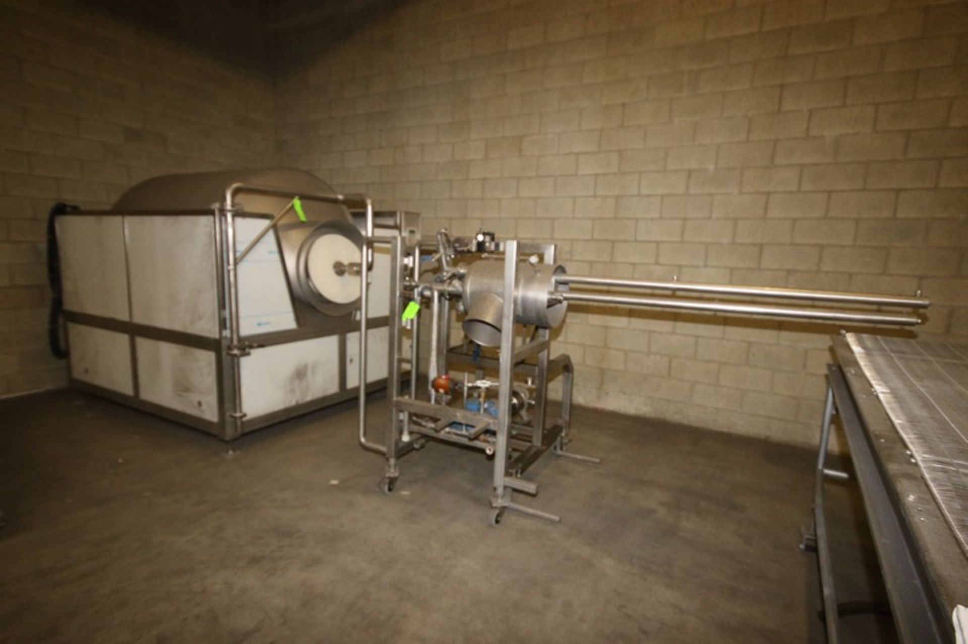 "Lot 1 - Terboven Coating Tumbler, Capacity: 800 TWV, Overall Dims.: Aprox. 90"" L x 86"" W x 88"" H, Aprox. 60"""