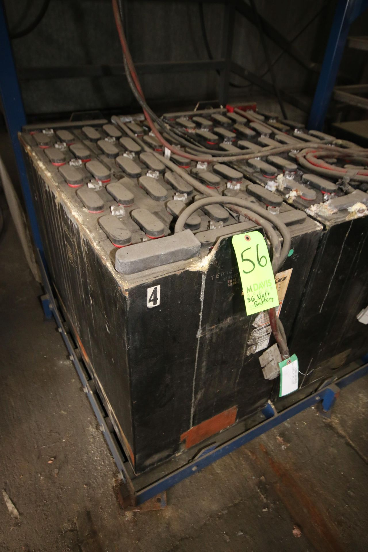 "Lot 56 - Deka 36 Volt Forklift Battery, Type: 18D125-17, Overall Dims.: Aprox. 38"" L x 20"" W x 29"" H"