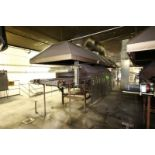 """Lot 21 - Natural Gas Fire Roaster #6, with Aprox. 33"""" W Belt, Includes S/S Exhaust Hood, Overall Dims.:"""