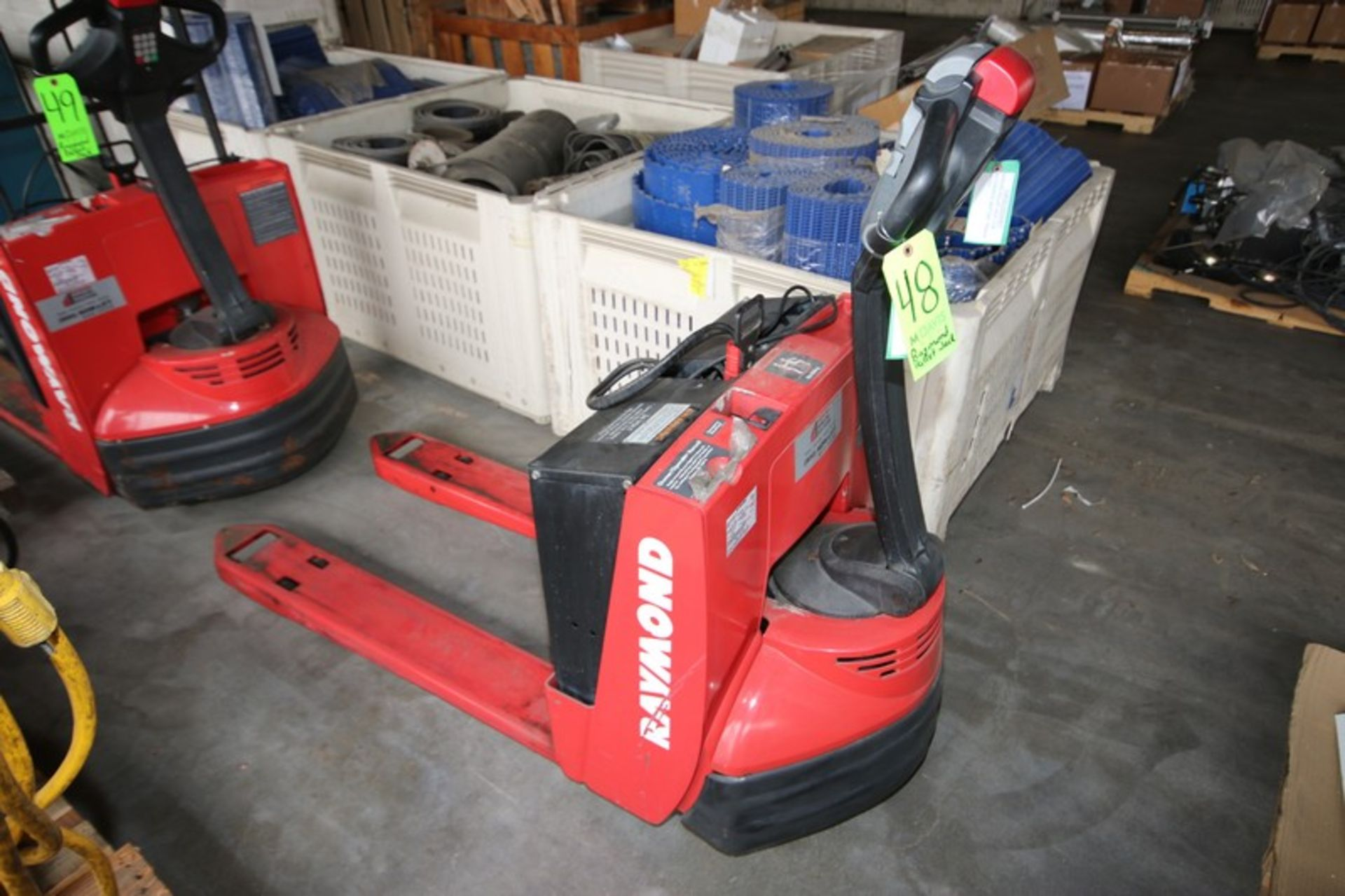 Lot 48 - Raymond 4,500 lb. Electric Pallet Jack, M/N 102T-F45L, S/N 102-06-06226, 24 Volt Battery