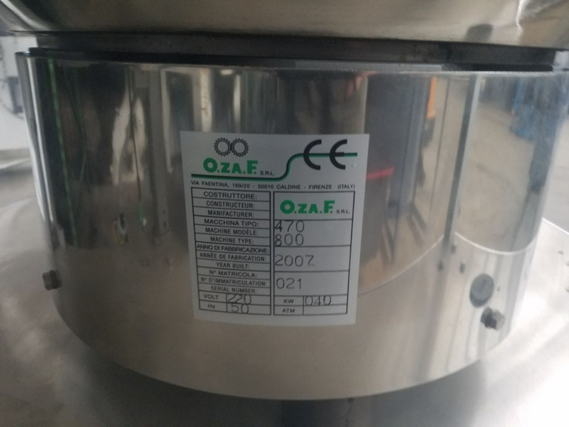 Lot 174 - O.Z.A.F. S/S Orientor & Bottle Placement Unit, M/N 470, Type: 800, S/N 021, 220 Volts (LOCATED IN