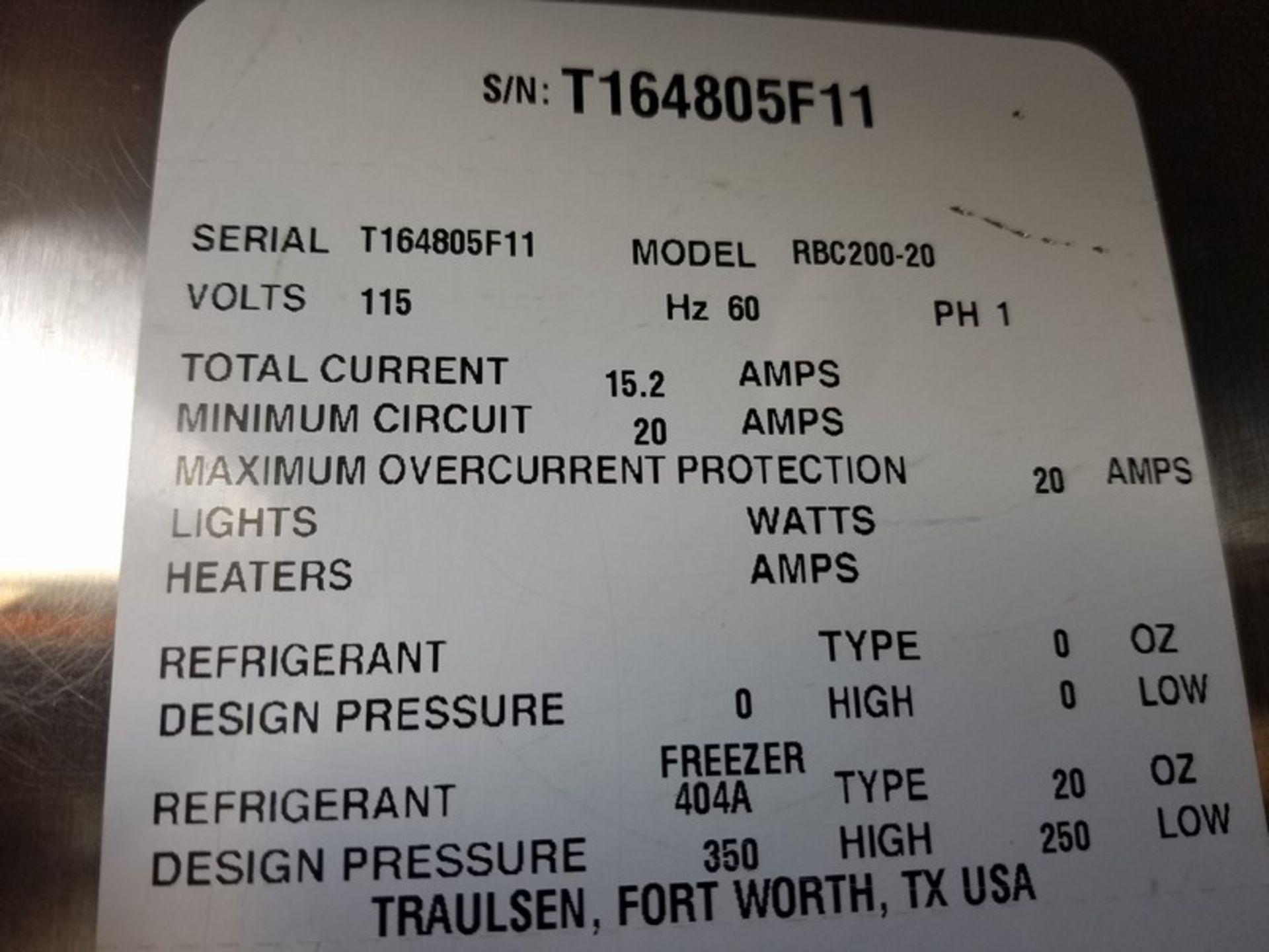 Lot 36 - Traulsen S/S Single Rack Blast Chiller, M/N RBC200-28, S/N T164805F11, Refrigerant 404A, Design