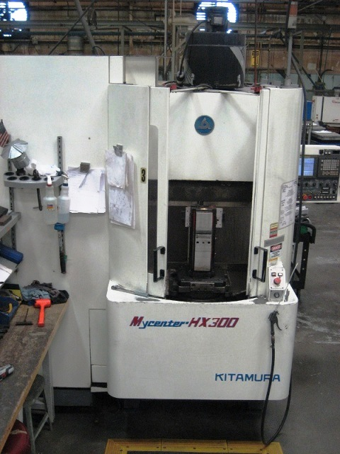 "Lot 25 - Kitamura HX300 CNC Horizontal Machining Center, 20""x20""x15.7"" trvls, 30 HP, 15k RPM, 40 ATC New 1999"