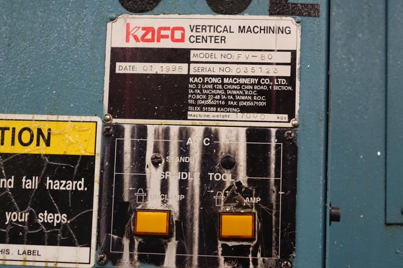 Lot 12 - FemTec FV-80 Vertical Machining Center, Fanuc 18 M control (Located in Long Beach, CA)