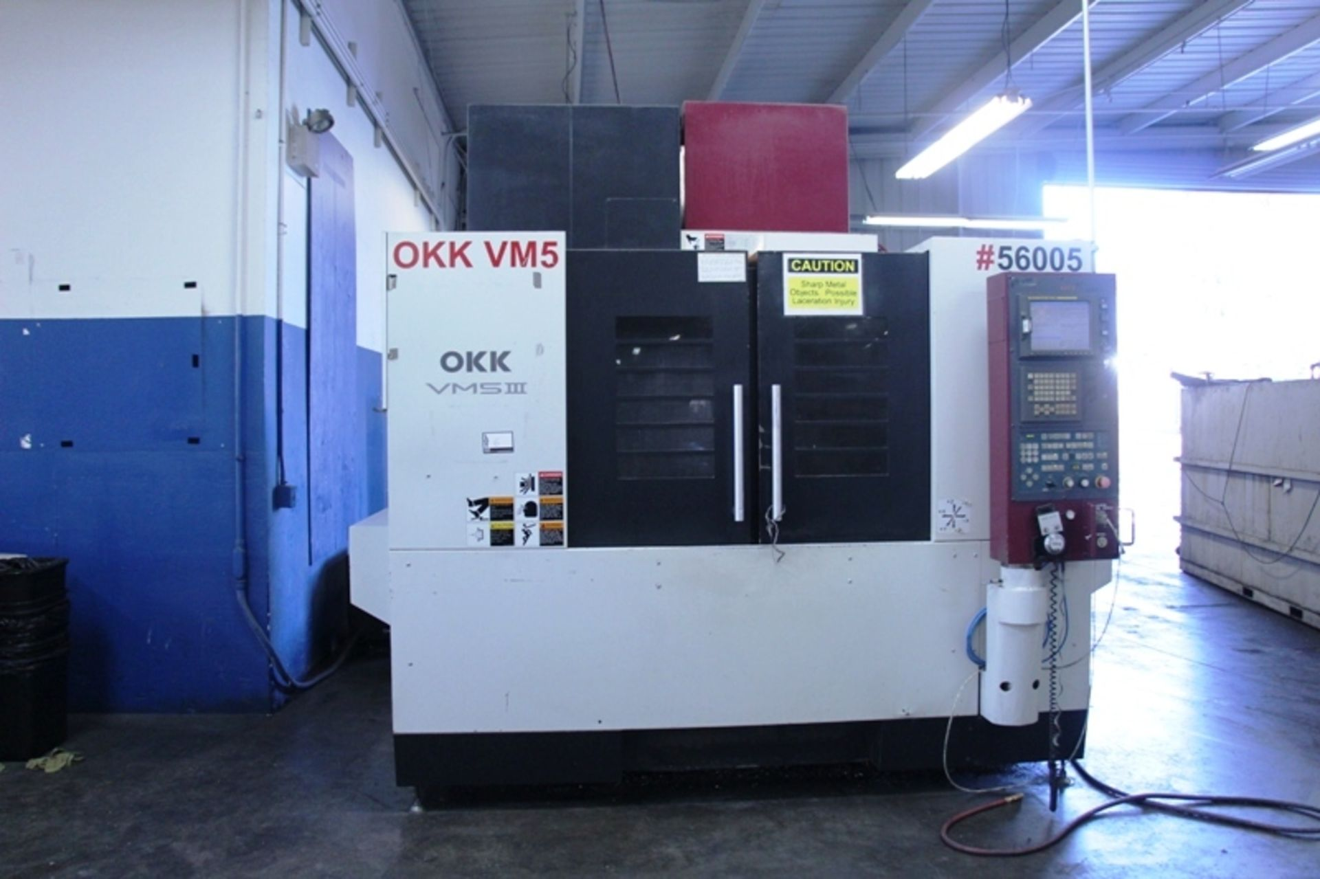 """Lot 6 - OKK VM5III CNC Vertical Machining Center, Fanuc 180is-MB control, 40"""" x 20"""" x 20"""" trvls, 10K RPM"""