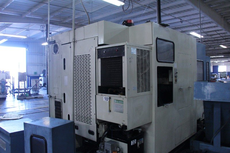 "Lot 7 - Mori Seiki MH-40 CNC Horizontal Machining Center, Fanuc 15MA (MF-M5) control, 16"" pllts, 22"" x 19.7"""