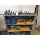 Bridgeport Mill Assorted Tooling Chucks, Drill Bits, Collets