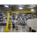 Anchor Crane & Hoist Jib Crane 1/2 ton, Kone Cranes Hoist, 12' Column and 17' Arm