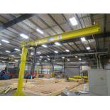 Anchor Crane & Hoist Jib Crane 1/2 ton, Coffing hoist, 12' Column and 16' Arm