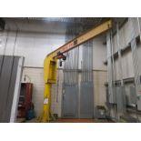 Abell-Howe 1/2 Ton Jib Crane, Lodestar hoist, 12' Column and 12' Arm