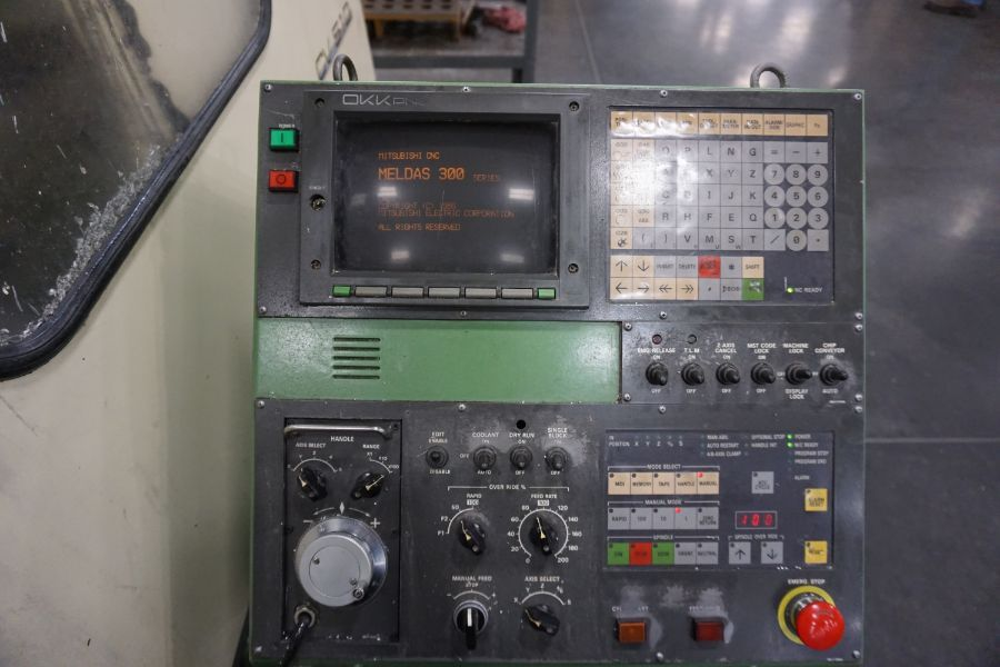 Group Of Lots  61  62   Okk Pcv 510 Vmc  Mitsubishi Meldas 300 Pnc Control  20 U0026quot  X 70 U0026quot  Table  6