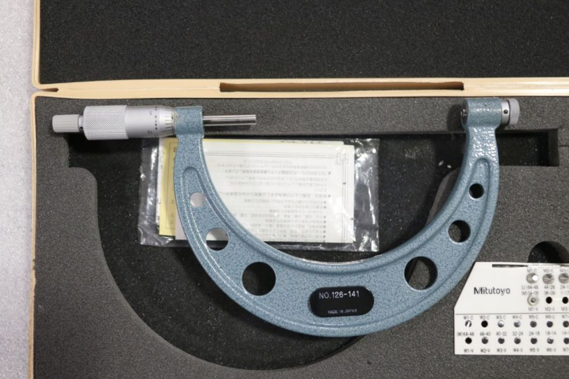 """Lot 36 - Mitutoyo 4"""" - 5"""" Pitch Micrometer"""