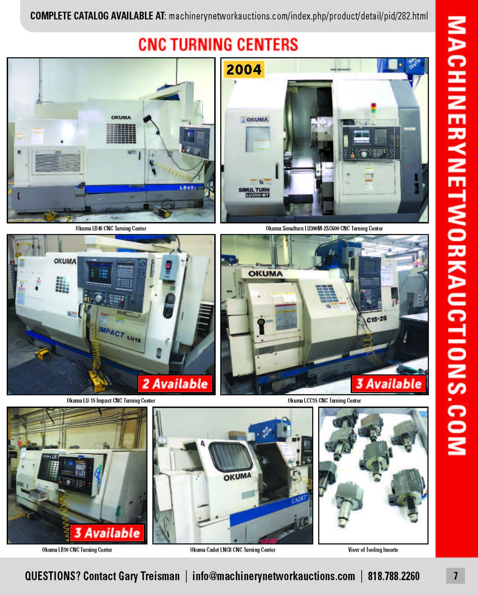 Lot 0 - Major CNC Facility to the Semiconductor Industry (Partial listing more to be listed)