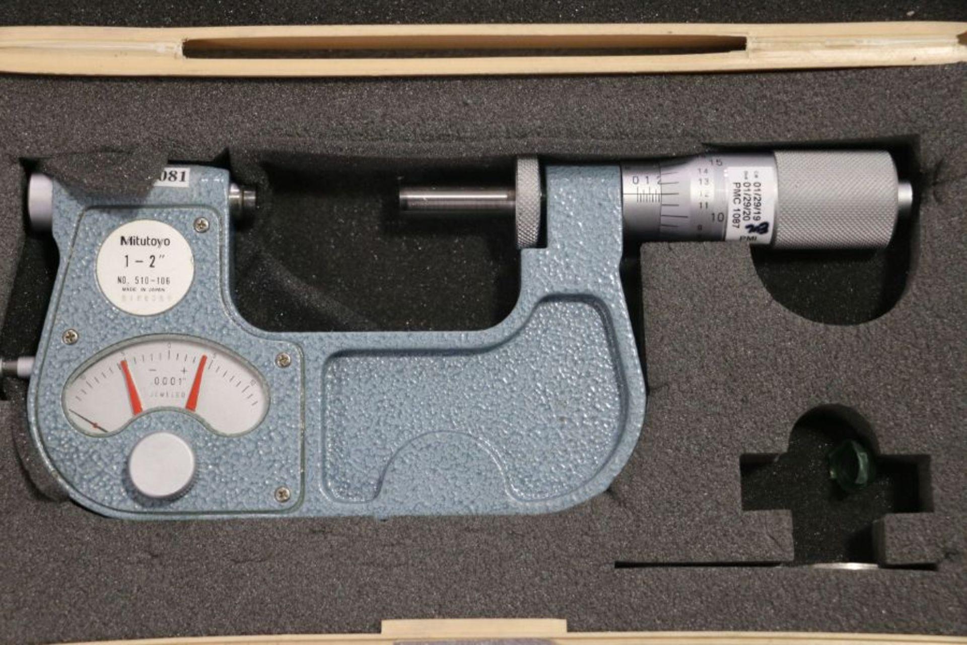 """Lot 30 - Mitutoyo 1"""" - 2"""" Indicating Micrometer"""