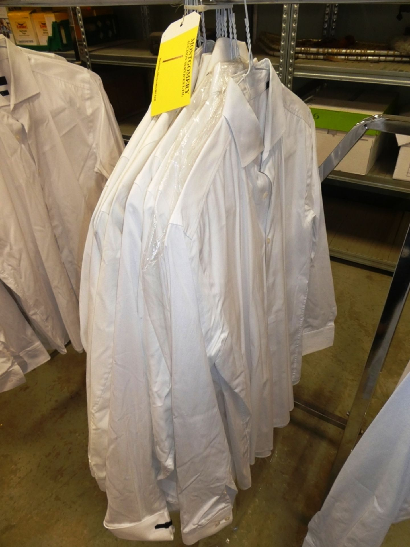 Lot 1 - L/O 15 HUGO BOSS WHITE DRESS SHIRTS - SLIM FIT, STRETCH