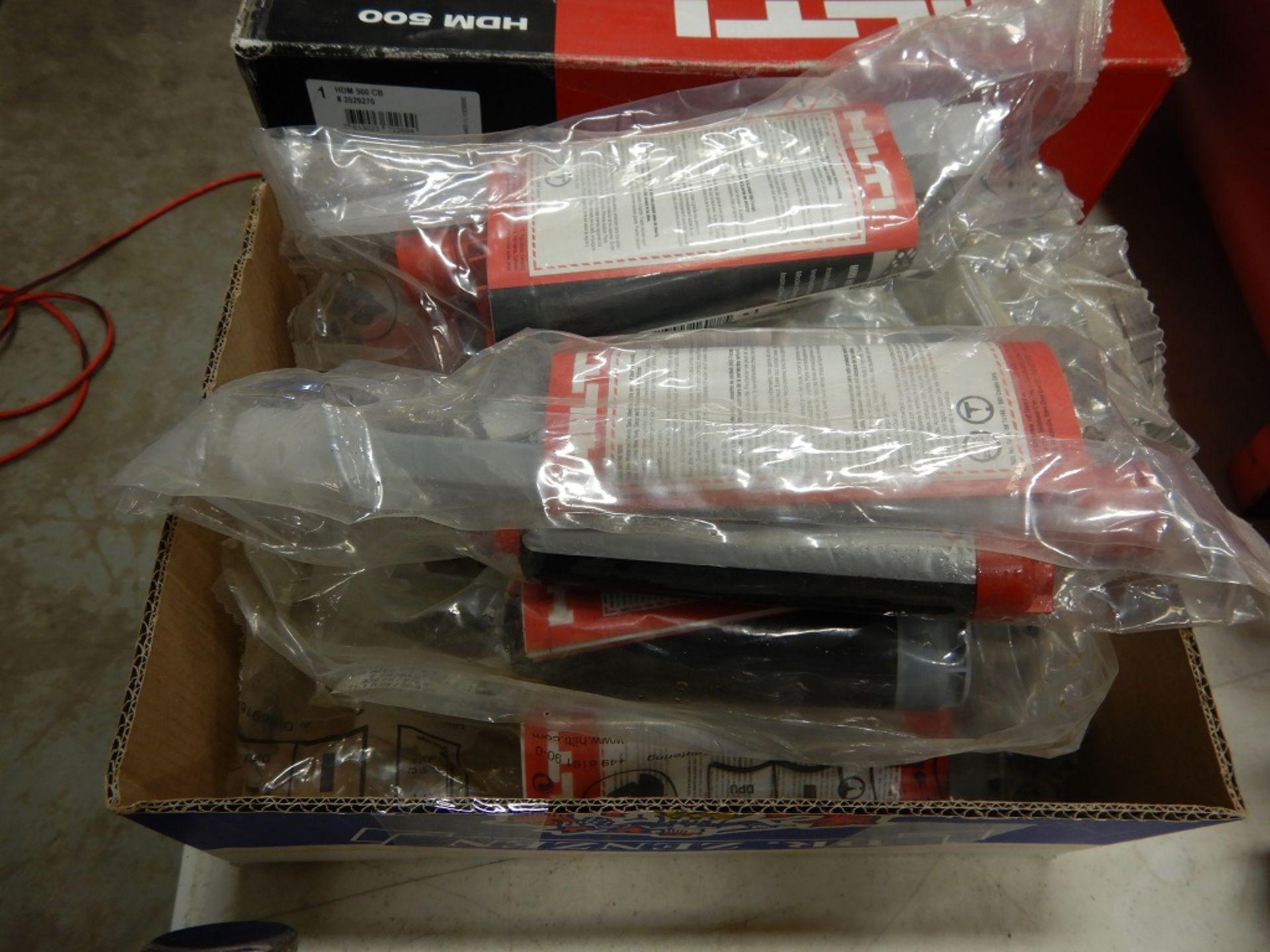 Lot 2 - HILTI HDM 500 ADHESIVE DISPENSER GUN W/ H4 150 MIX PACKS