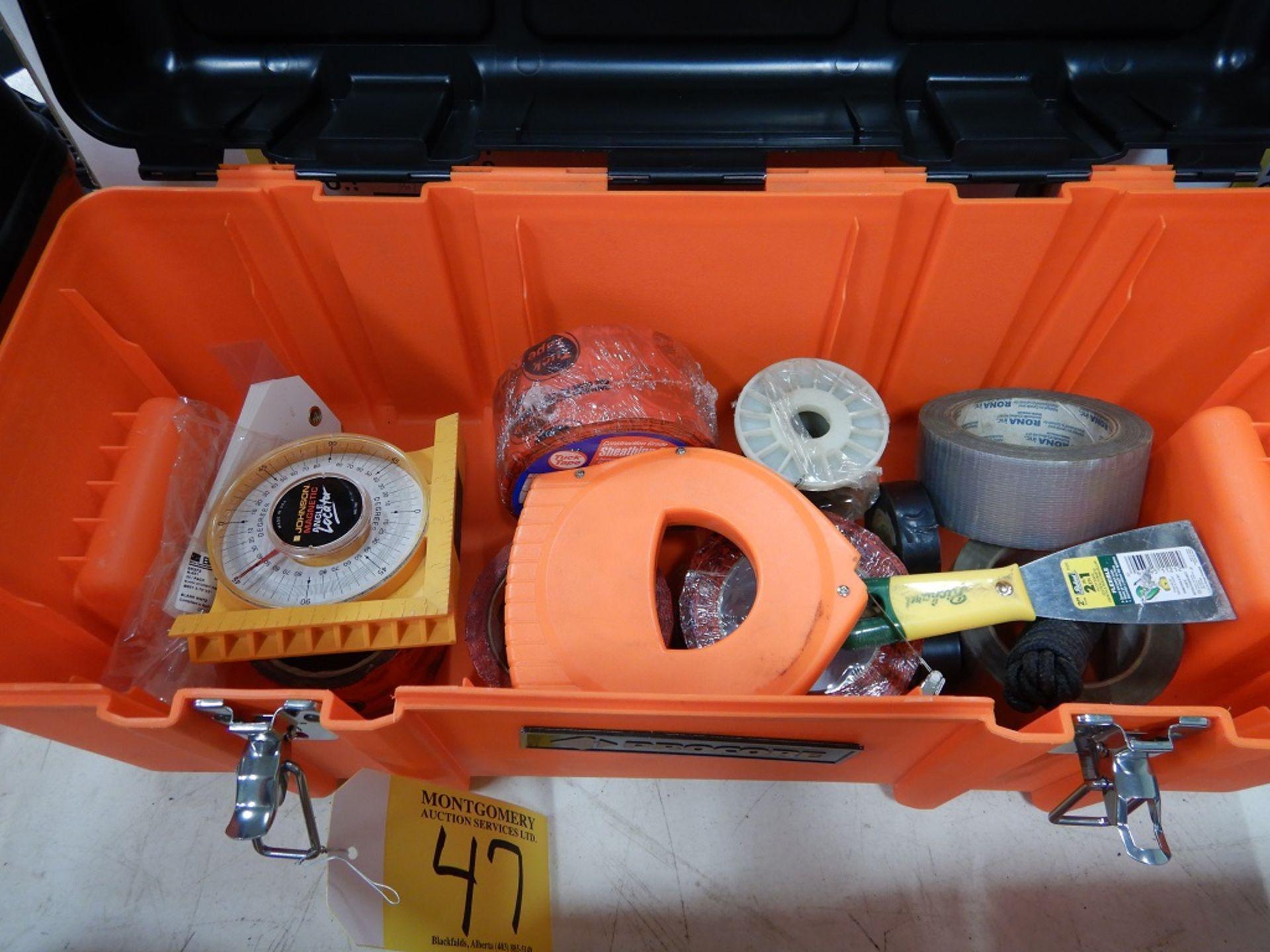 "Lot 47 - 2-PROCORE 23"" TOOL BOXES & MISC. CONTENTS"
