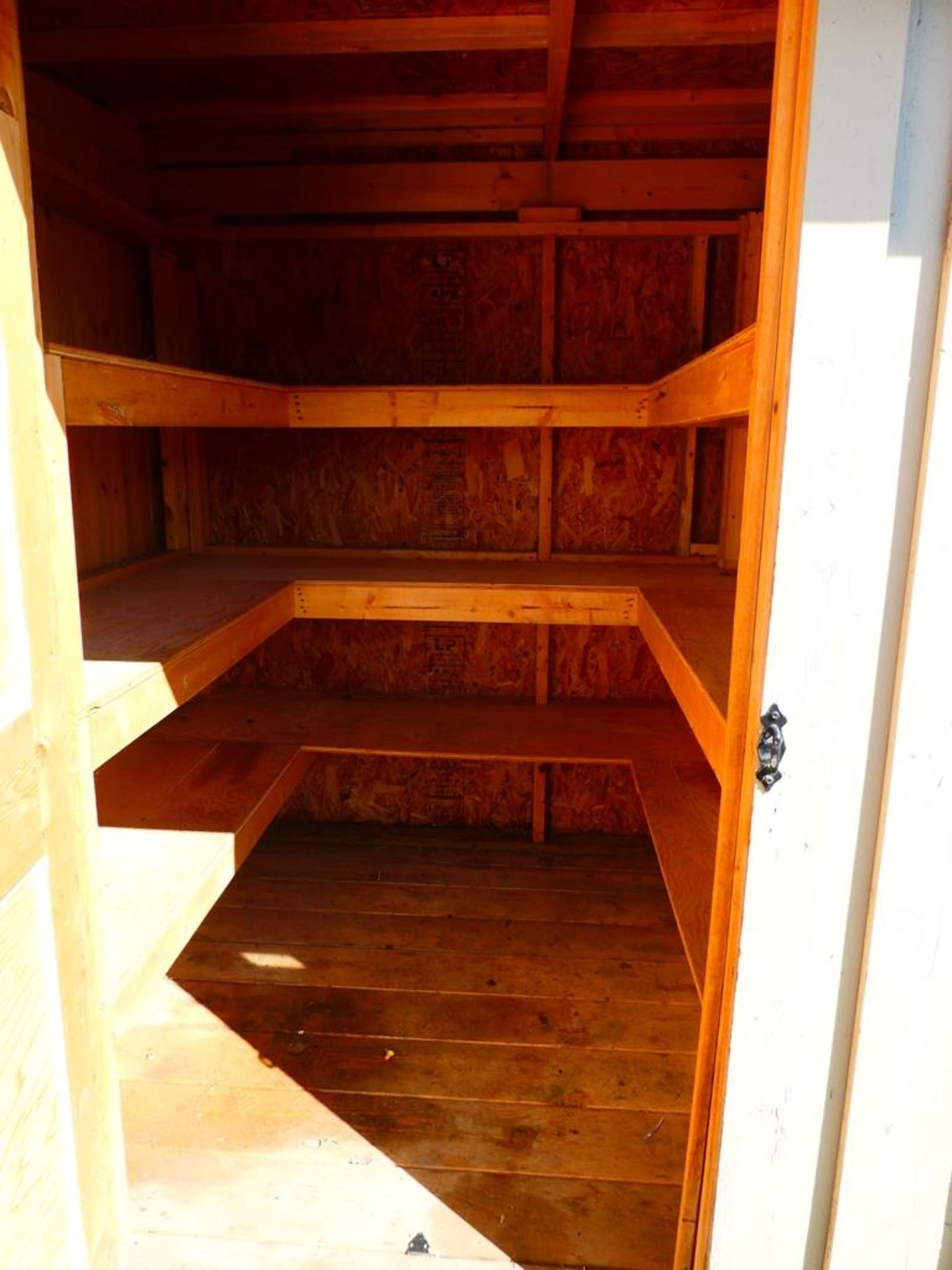 HAND CRAFTED 2 COMPARTMENT STORAGE BUILDING 6'X12' - Image 3 of 4