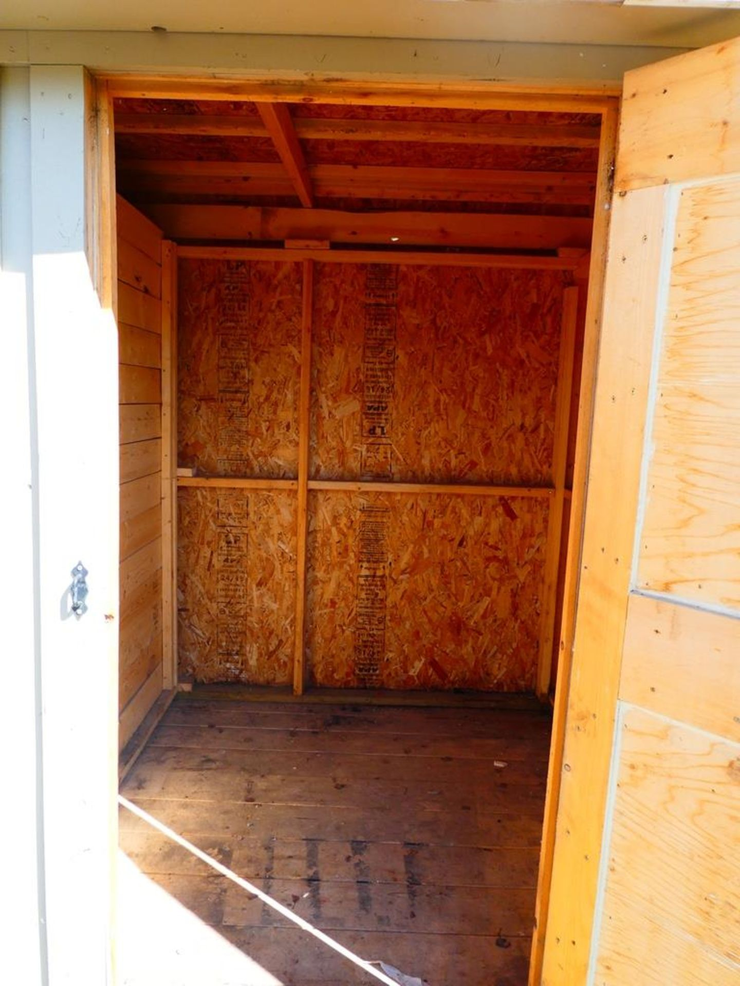 HAND CRAFTED 2 COMPARTMENT STORAGE BUILDING 6'X12' - Image 4 of 4