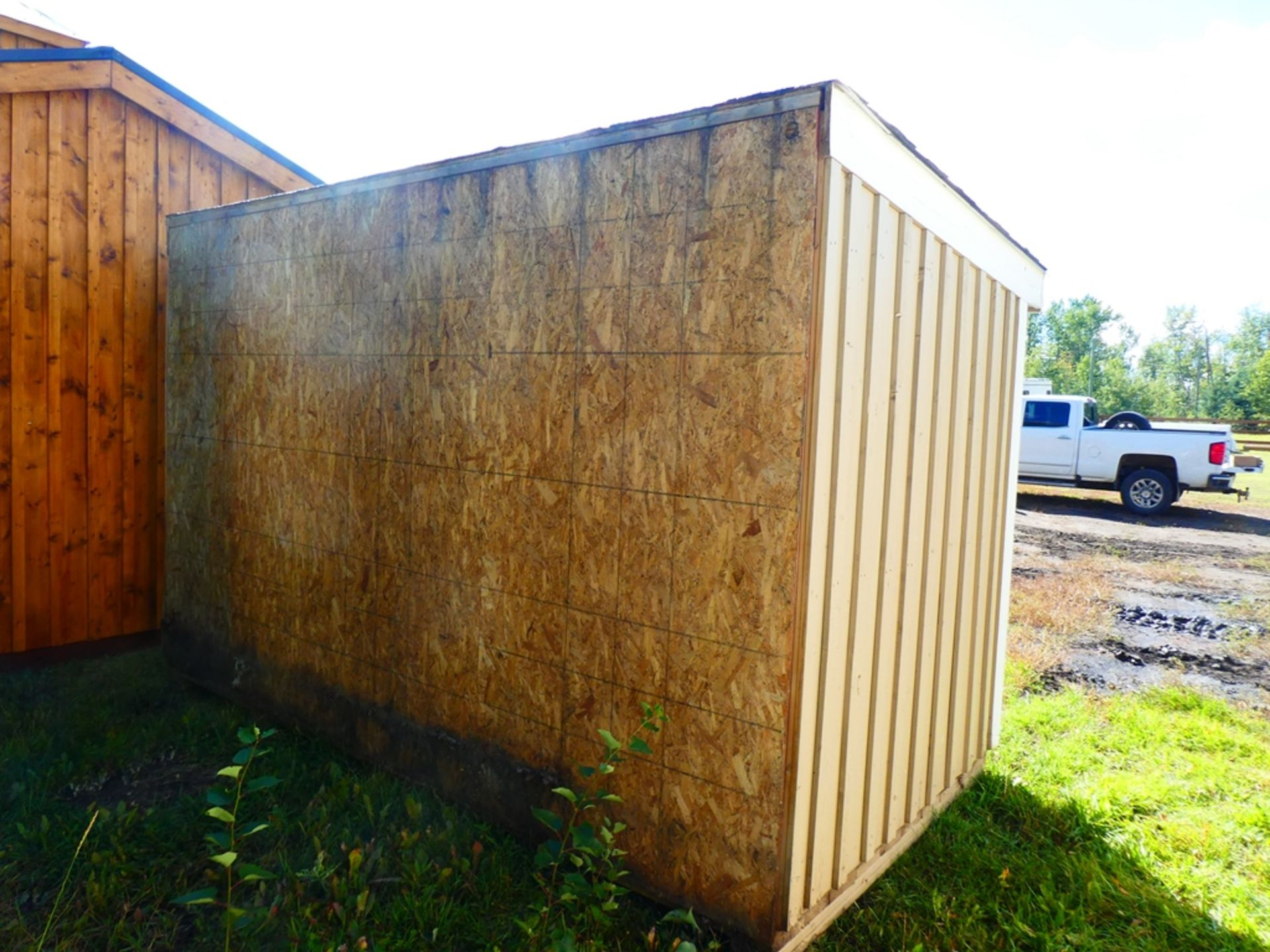 HAND CRAFTED 2 COMPARTMENT STORAGE BUILDING 6'X12' - Image 2 of 4