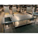 2 Basin sink w/ prep table