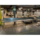 Stainless steel prep table w/ sink 15'