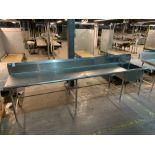 Stainless steel prep table w/ sink 12'