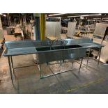 3 Basin stainless steel sink