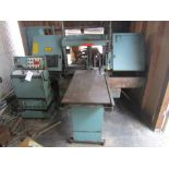 W.F. WELLS BAND SAW, SERIAL A2322/F529, MANUALS INCLUDED.