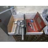 """LOT TO INCLUDE: (5) 6"""" MITUTOYO AND BROWNE & SHARPE CALIPERS, (1) MITUTOYO MICROMETER"""