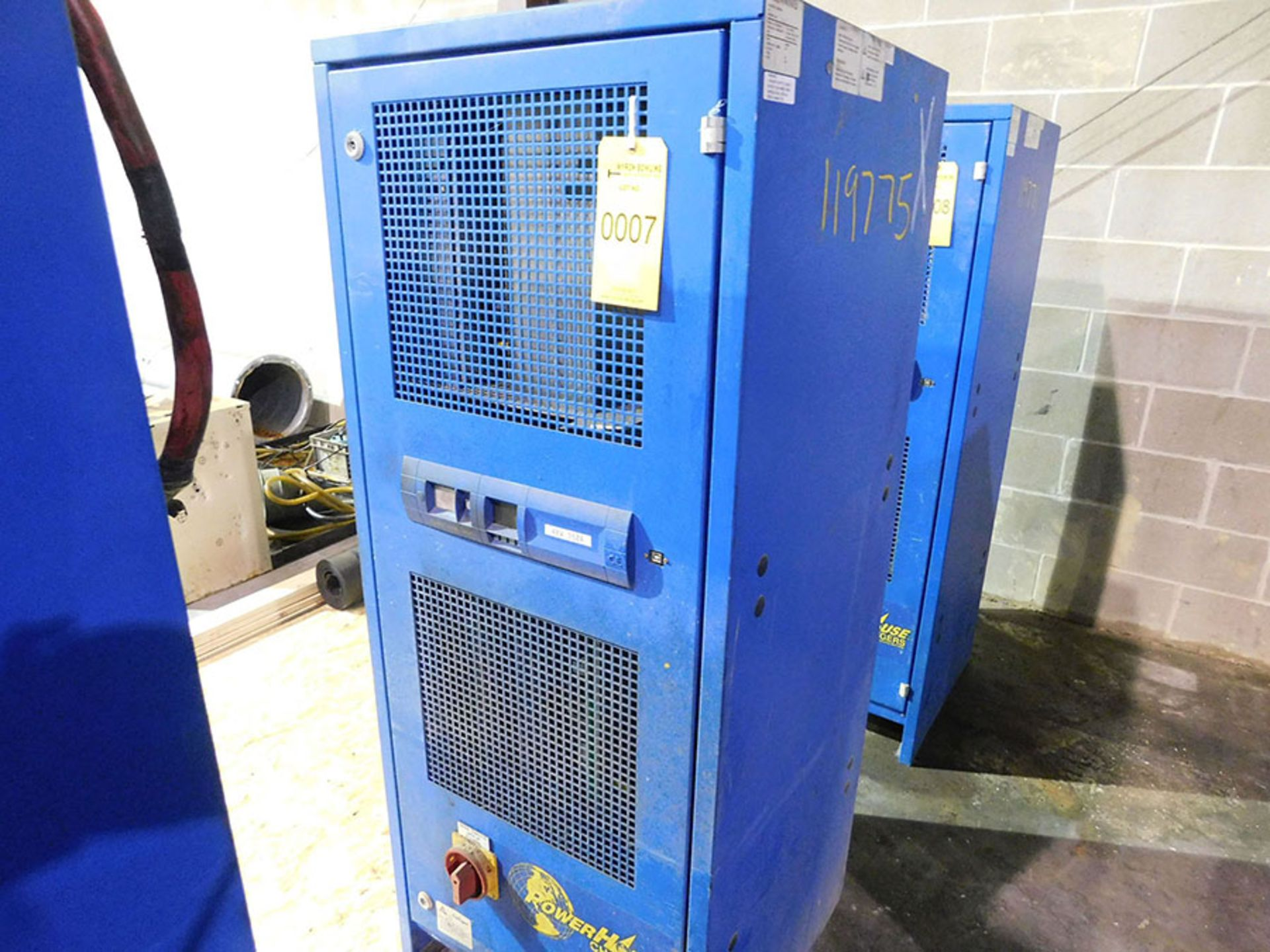 Lot 7 - BENNING POWER HOUSE BATTERY CHARGER; MODEL CR24HF3-350, 480-VOLT IN, 48-VOLT OUT
