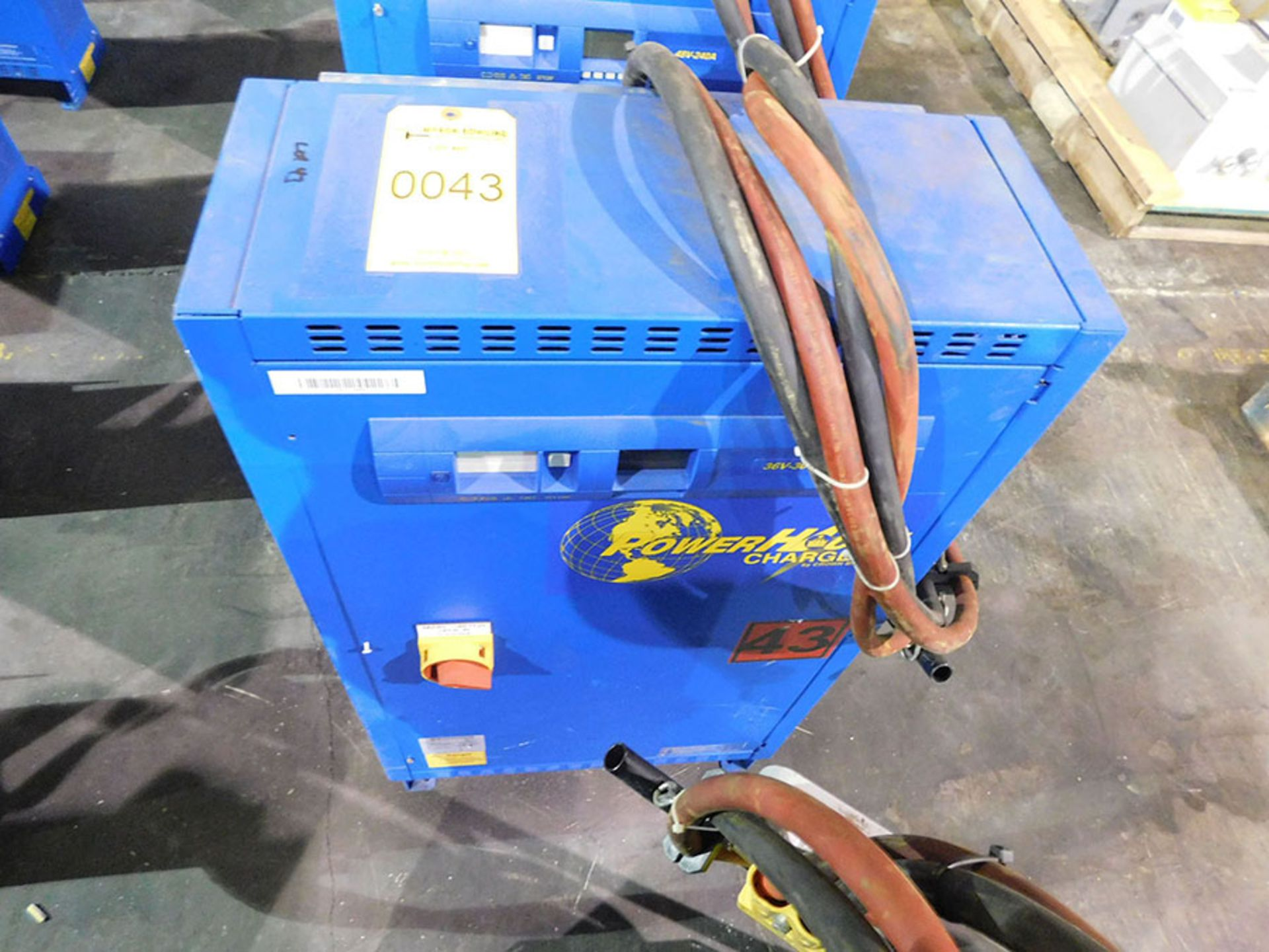 Lot 43 - BENNING POWER HOUSE BATTERY CHARGER; MODEL CR24HF3-240, 480-VOLT IN, 48-VOLT OUT
