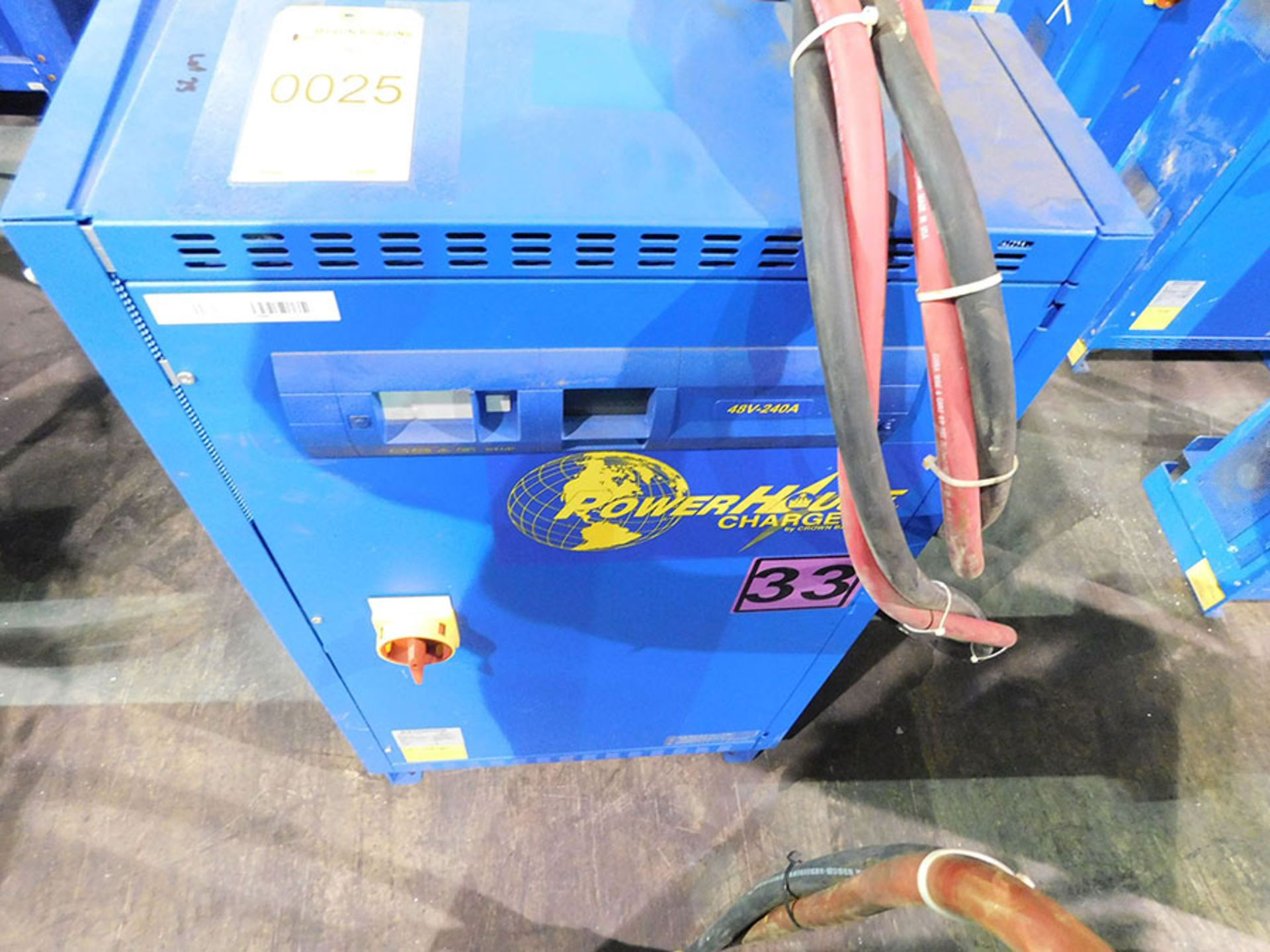 Lot 25 - BENNING POWER HOUSE BATTERY CHARGER; MODEL CR24HF3, 480-VOLT IN, 48-VOLT OUT