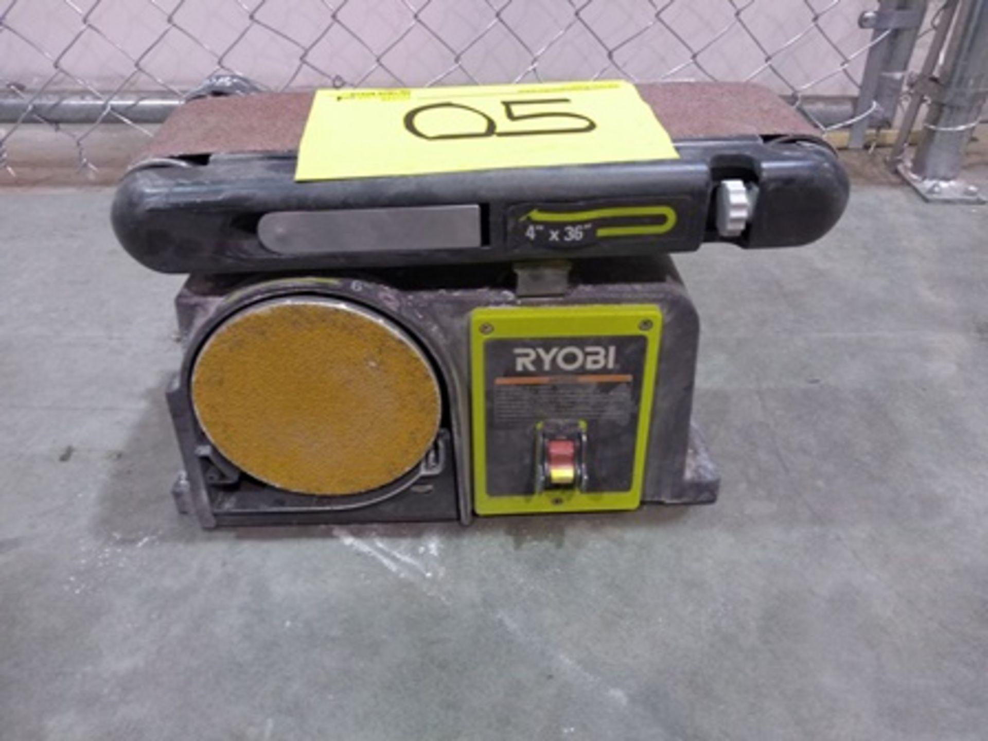 Lot 5 - Ryobi 4x36 inch, Belt/Disc sander.