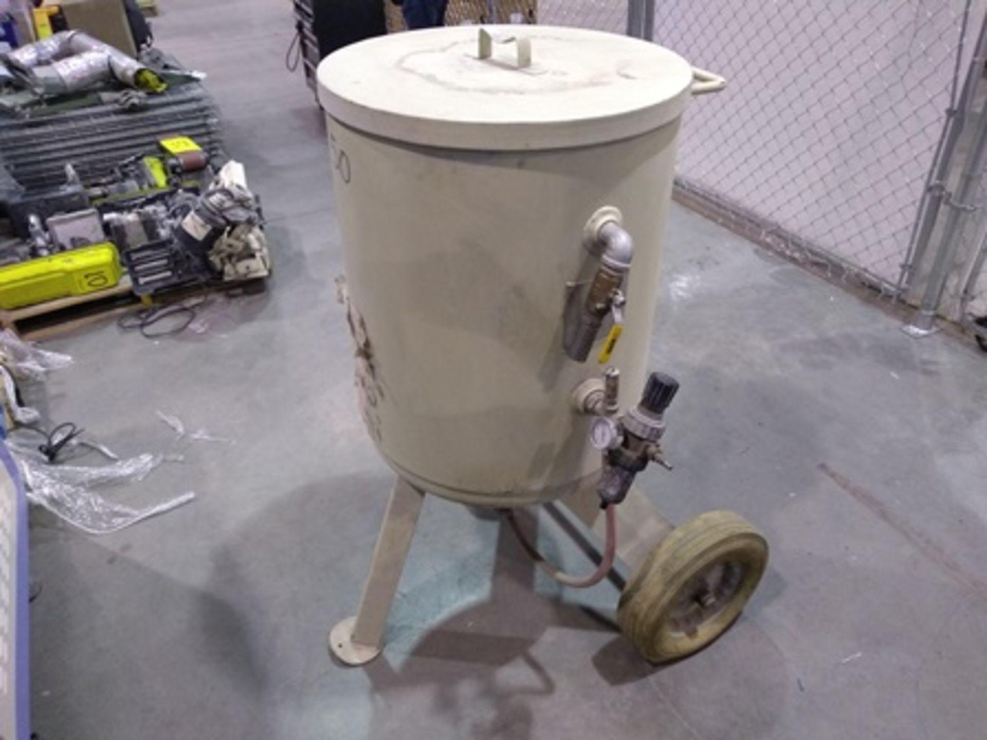 Lot 34 - Clemco blast machine, year 2013, capacity of 6 cubic feet & max pressure 100 psi.