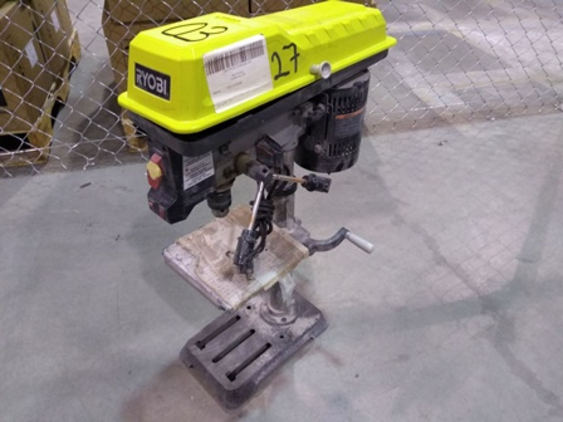 Lot 3 - Ryobi column drill (chuck and lasser alignment system included), 1/2 hp engine.