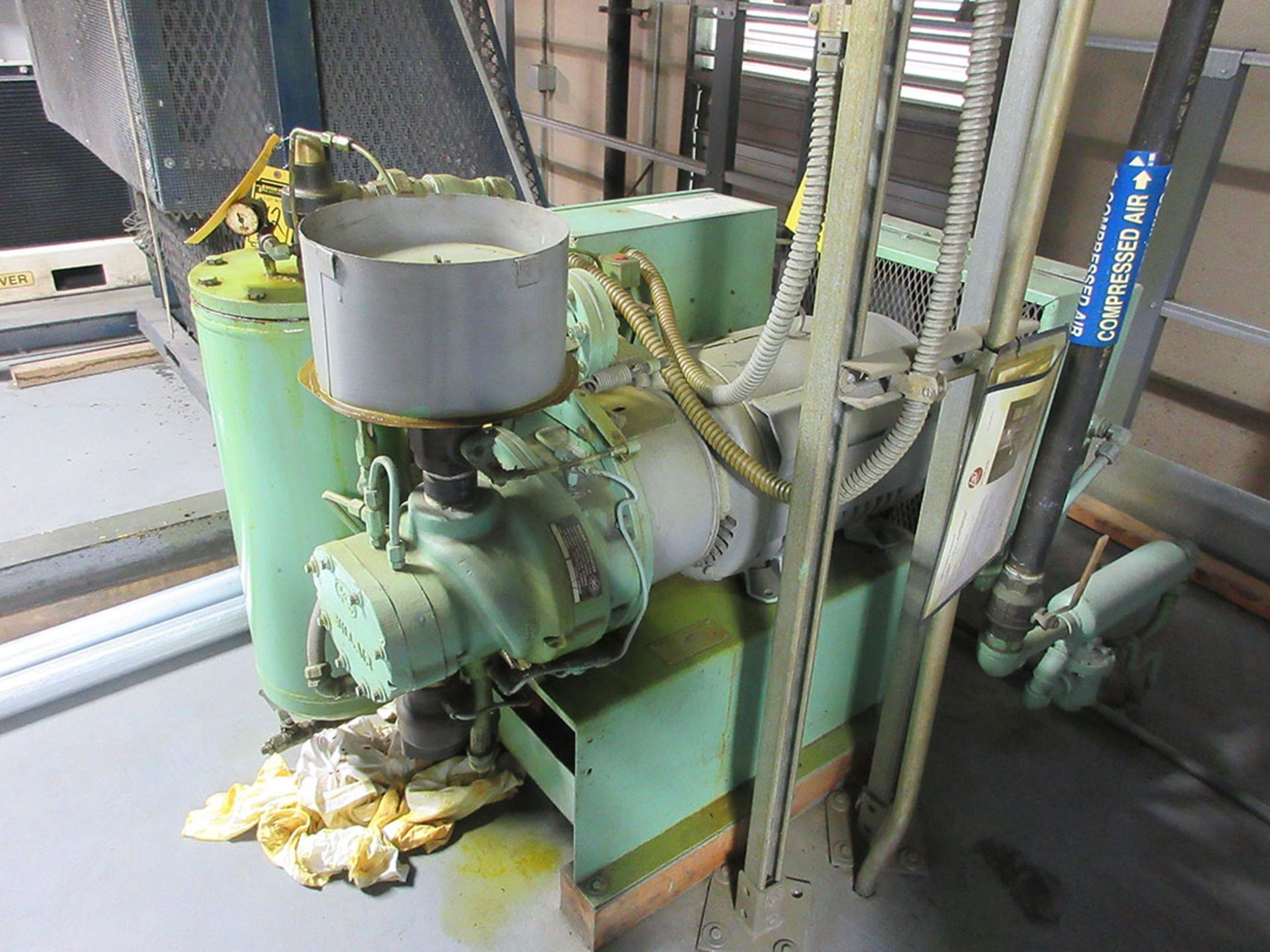 Lot 109 - SULLAIR 30 HP ROTARY SCREW AIR COMPRESSOR; MODEL 10-30, S/N 41975GGH ***EXCLUSIVE RIGGER -