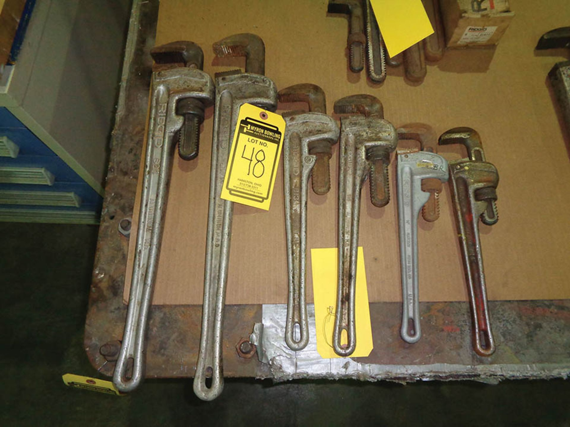 Lot 48 - LOT OF (6) PIPE WRENCHES