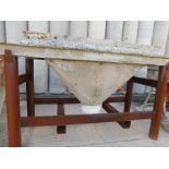 Lot 2336 - CONCRETE FUNNEL WITH STANDING BRACKET