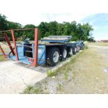 Lot 2076 - 7-AXLE TRAILER WITH REAR STEER