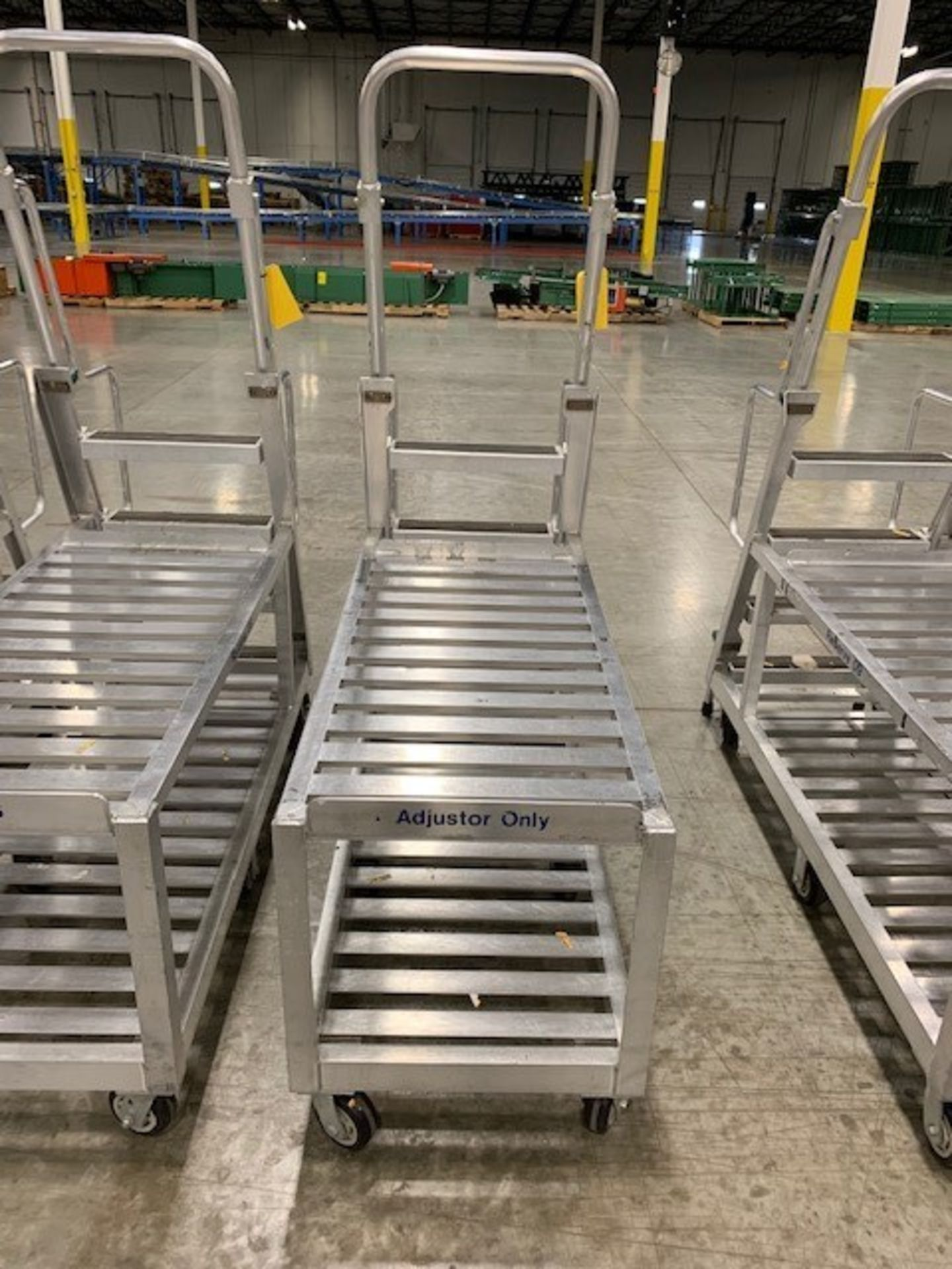 Lot 185 - ALUMINUM PICKING CART WITH LADDER