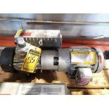 BUSCH VACUUM PUMP WITH BALDOR 2-HP MOTOR; 230/460V, 1,740 RPM, 3-PHASE
