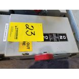 GE HD SAFETY SWITCH 30 AMP, 600 VAC, MAX HP 20