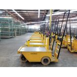 2011 WESLEY INT. PACK MULE ELECTRIC CARTS, MODEL SC-775-6CA, STAND UP DRIVE, FORWARD REVERSE, BACK