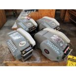 (4) BETTER PACKAGES BETTER PACK 500 TAPE MACHINES, ADJUSTABLE TOP HEATERS