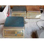 "(3) ADAM LBK65A DIGITAL PLATFORM SCALE, 65 LB. CAPACITY, 10"" X 7"" PLATFORM"