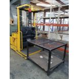 """YALE 3,000-LB. ELECTRIC STOCK PICKER, STAND UP STATION, 213"""" LIFT HEIGHT, 24V, MODEL"""