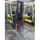 """2007 HYSTER 35 LIFT ONE 3,450-LB. ELECTRIC FORKLIFT, CENTER DUAL REAR TIRES, 185"""" LIFT HEIGHT"""